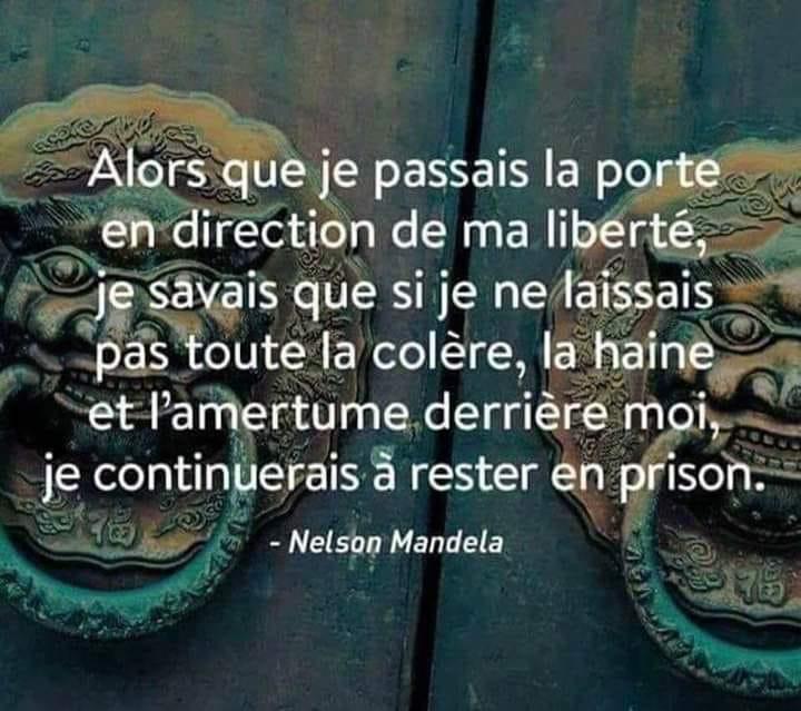 citation Nelson mandela porte liberté