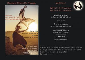 stage danse& chant du Voyage Marseille Nov & dec 17