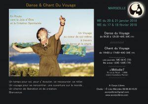 stage danse& chant du Voyage Marseille Janv-fev 18