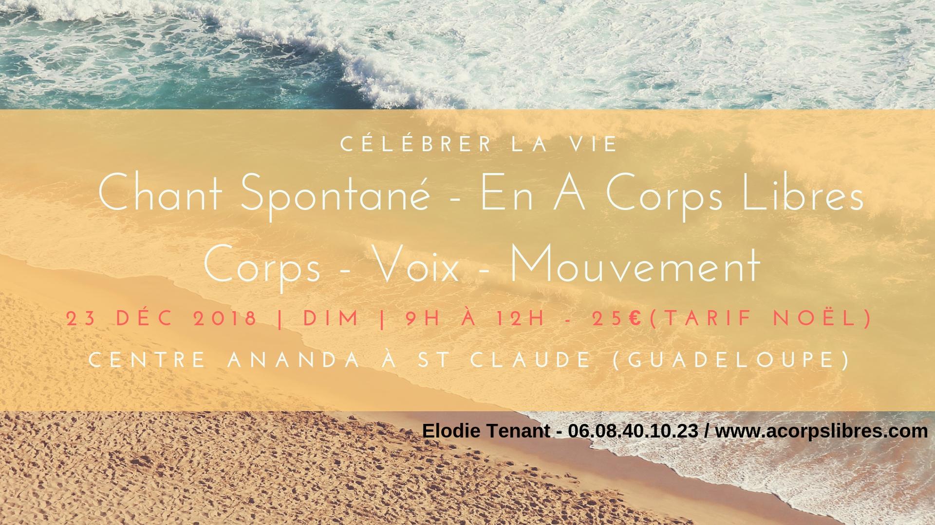 Atelier Chant Spontané St Claude 23 janv