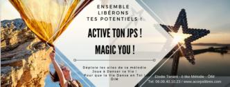 bandeau active ton JPS Magic you jaune pétillance